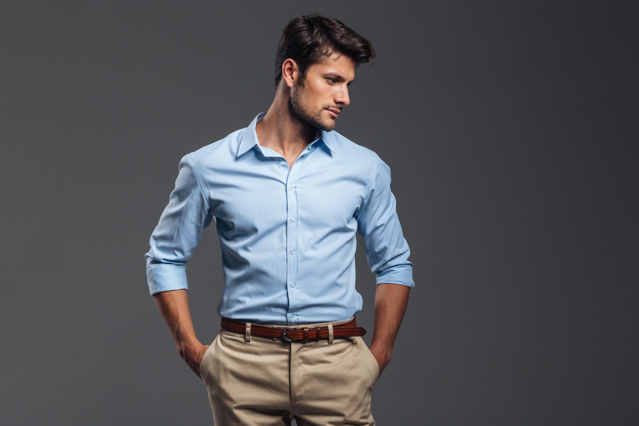 dobras manga camisa
