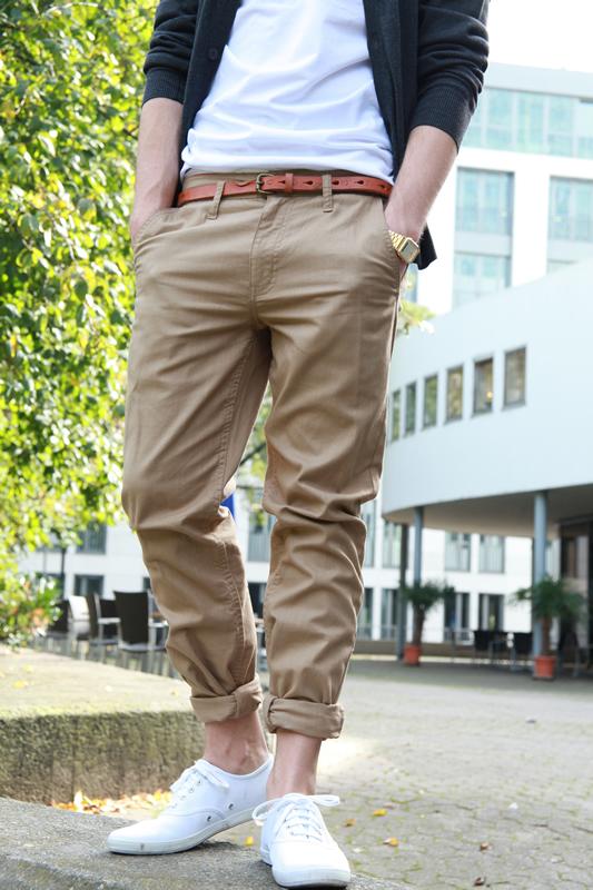 modelo calca chino masculina
