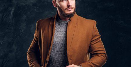 sete diferentes casacos masculinos